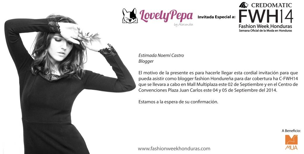 Invitación Noemí Castro Blogger